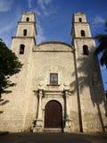 Tall Catholic Church in Merida Yucatan Royalty Free Stock Images