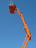 Tall cherry picker platform. A tall cherry picker platform stock photos