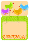 Tall chicken invitation card Royalty Free Stock Image