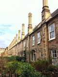 Tall chimneys in Wells. Tall chimneys in Vicars Close near the cathedral in Wells Stock Photography