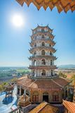 Tall Chinese Pagoda in Wat Tham Khao Noi temple Stock Image