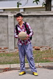 Pengzhou, China: Youth with Basketball Stock Photography