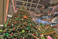 Tall christmas tree at 2016 Royalty Free Stock Image