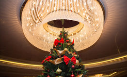 Tall christmas tree with luster Stock Photos