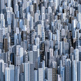 Tall city background Stock Photos