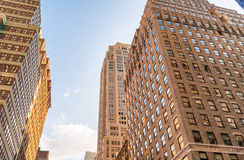 Tall city buildings. Office and business concept.  Stock Images