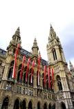 Tall city hall in Vienna Austria Stock Photo