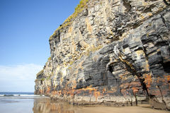 Tall cliffs of Ballybunion on the wild atlantic way Royalty Free Stock Photography