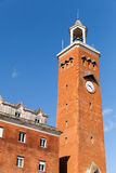 Tall clock tower of comune di Gaeta, Italy Royalty Free Stock Photos