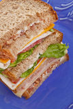 Tall Club Sandwich Royalty Free Stock Photo