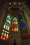 Tall colorful stained glass windows Stock Photos