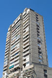 Tall concrete apartment building Stock Image