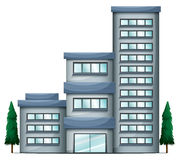 A tall condo building. Illustration of a tall condo building on a white background Stock Images