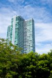 Tall condominium or apartment. Building in the city Stock Photography