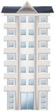 A tall condominium. Illustration of a tall condominium on a white background Stock Image