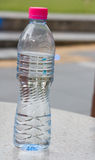 Tall cup and bottle Royalty Free Stock Photography