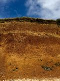Tall dirt cliff Stock Images