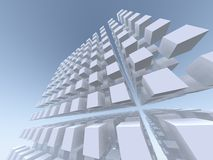 Tall and Dizzy Cube Matrix. 3D generated Cube Matrix pattern Royalty Free Stock Photos