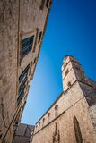 Dominican church tower in Dubrovnik Royalty Free Stock Image