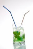 Tall drink with mint and ice Royalty Free Stock Image