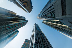 Tall Dubai Marina Royalty Free Stock Images