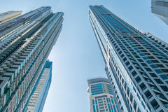 Tall Dubai Marina skyscrapers in UAE Royalty Free Stock Photos