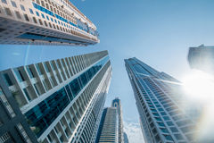 Tall Dubai Marina skyscrapers in UAE Royalty Free Stock Photography