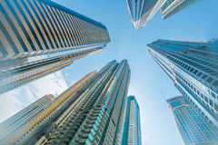 The tall dubai marina skyscrapers in uae Stock Photography