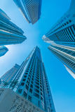 The tall dubai marina skyscrapers in uae Stock Photography
