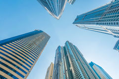 Tall Dubai Marina skyscrapers in UAE Stock Image