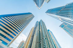 Tall Dubai Marina skyscrapers in UAE Royalty Free Stock Image