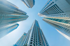The tall dubai marina skyscrapers in uae Stock Image