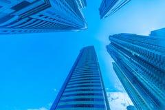 The tall dubai marina skyscrapers in uae Stock Images
