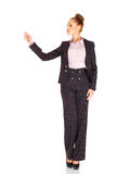 Tall Elegant Woman Pointing Her Finger Stock Images