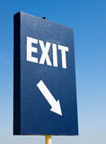 Tall Exit Sign Royalty Free Stock Photo