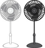Tall Fan vector Stock Image