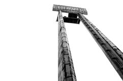 Tall floodlight. At an outdoor sports venue Royalty Free Stock Photos