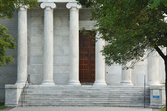 Tall Fluted Marble Pillars Stock Image