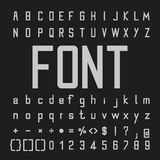 Tall Font and Number Design Stock Image