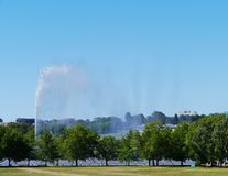 A tall fountain in Canberra Royalty Free Stock Images