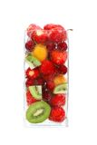 Tall fresh drink. A still image of a fruits and bubles Stock Photos