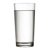 Tall full glass of water  w clipping path Stock Images
