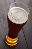 Tall glass of amber ale Stock Photography