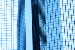 Tall glass buildings Stock Images