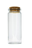 Tall glass empty container Stock Images