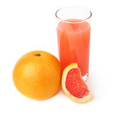 Tall glass filled with the grapefruit juice and Stock Image
