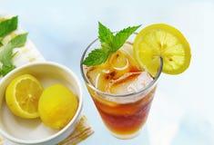 Tall glass of iced tea Royalty Free Stock Photos