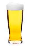 Tall glass of pilsner beer isolated Stock Photos