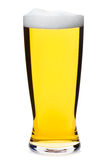 Tall glass of pilsner beer isolated Royalty Free Stock Photos