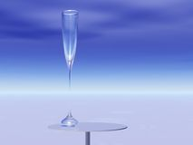 Tall Glass To Order. An expansive horizon and a Tall Glass To Order Royalty Free Stock Photography